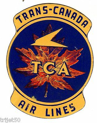 Trans-Canada Air Lines TCA Luggage Label