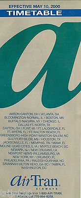 Airline Timetable AirTran Airways 2000 May