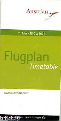 Airline Timetable Austrian Airlines 2006 Summer