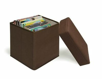 """Brown Folding Storage Box by Badger Basket """"No Package"""""""