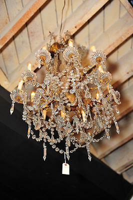 Antique French bronze Crystal Chandelier c.1890s • CAD $4,284.00