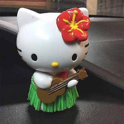 Hello Kitty Red Hula Dancer Girl Dash Mount Car Dashboard Auto Ornament