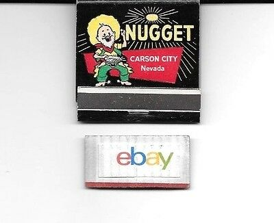 Nugget Carson City Casino 1960's Matchbook Unused-Unstricken