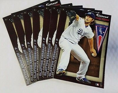 "Clayton Kershaw LA Dodgers #3 NEW 2012 Fathead Tradeables 5"" x 7"" lot of 7"