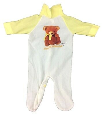 1979 I Love My Pot Belly Bear Sleeper 1-Piece Outfit for Teddy Bear Yellow White