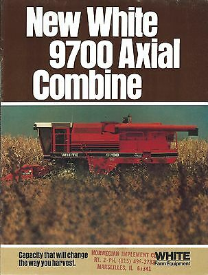 Farm Combine Brochure - White - 9700 Axial - 8 page version (F4866)