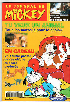 LE JOURNAL DE MICKEY n°2259 ¤ 1995 ¤ + CADEAU DOUBLE POSTER CHIENS & CHATS