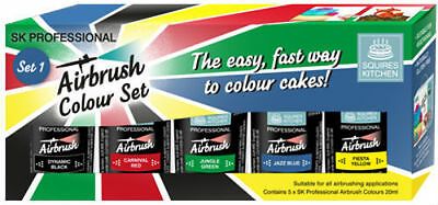 Squires Kitchen Professional Airbrush Colour Sets - Choice Of Colours
