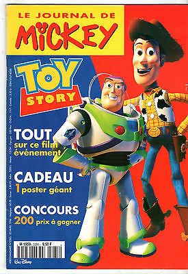 LE JOURNAL DE MICKEY n°2285 ¤ 1996 ¤ + CADEAU POSTER GEANT TOY STORY