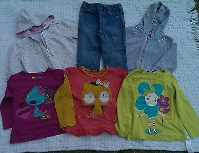 3-4 Years Girls Bundle 1xJeans 3xTop 2xHoodie