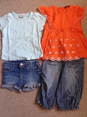 4X NEXT GAP Denim Shorts Tops Trousers 3-4 Year Old Girls Summer Holiday Outfits