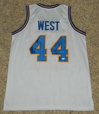 Jerry West Autographed Signed West Virginia Mountaineers #44 Basketball Jersey