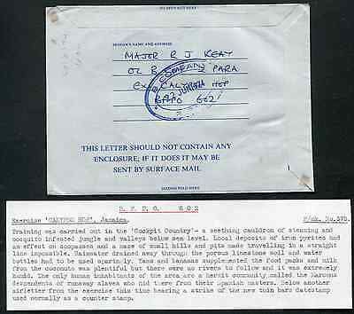 JAMAICA (13766): B COMPANY 2 PARA cancel/Forces Air Letter