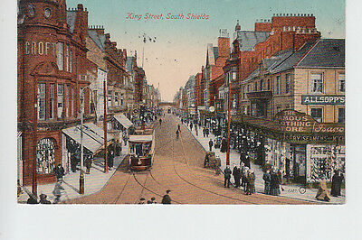 Animated scene in King Street, South Shields, Durham