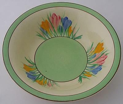 Attractive Large Clarice Cliff Bowl - Spring Crocus Pattern