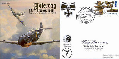 CC54 Battle of Britain RAF cover signed HERRMANN KC