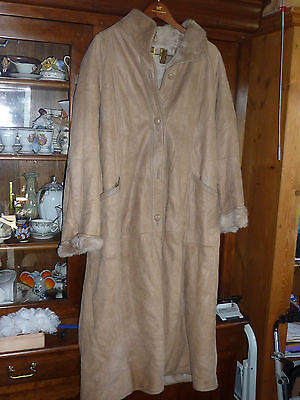 VINTAGE veste manteau taille 44 FOURRURE peau véritable VELYNA made in SPAIN