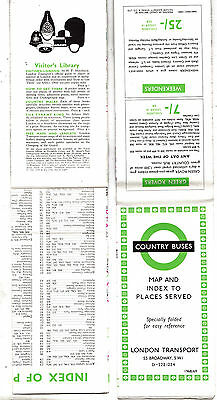 LONDON TRANSPORT ROUTE MAP 1968 LRM25: Country Buses 1068/3402C/150M
