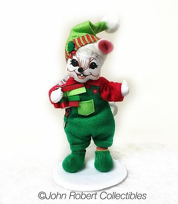 Annalee Dolls Christmas Workshop Boy Mouse 6 Inch