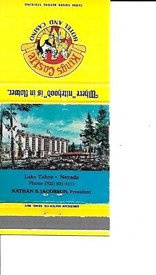 Kings Castle Hotel & Casino Lake Tahoe Matchbook Cover 1970's