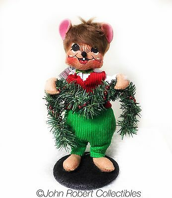 Annalee Dolls Christmas Decorating Mouse 8 Inch