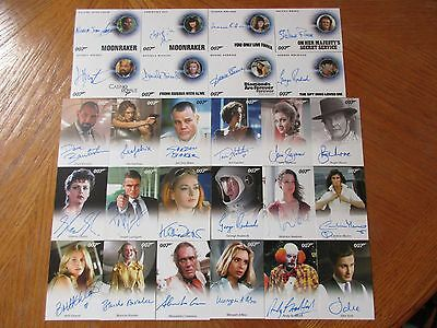 James Bond Archives 2016 SPECTRE Edition Full MASTER Set with Gold Parallel Sets