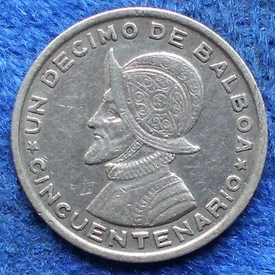 PANAMA - silver 1/10 balboa 1953 KM# 18 Independent since 1903 - Edelweiss Coins