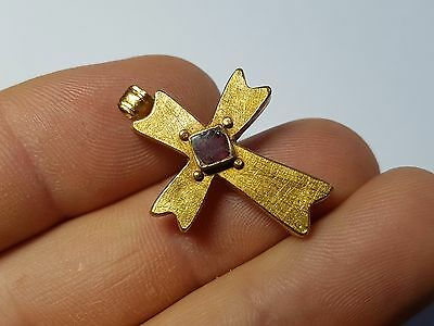 ANCIENT GOLD  ROMAN CROSS PENDANT 9th, 10th c. AD