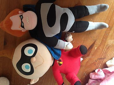 Disney Incredible Soft Toy X 2 Used