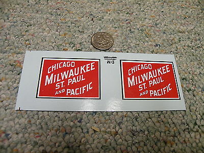Herald King decals G Gauge Chicago Milwaukee St Paul and Pacific  heralds  XX159