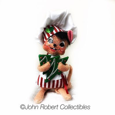 Annalee Dolls Christmas Shimmermint Chef Mouse 6 In
