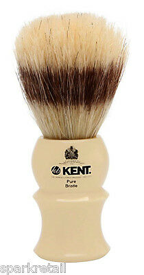 Kent Ivory Acrylic Pure Boar Bristle Badger Effect Small SHAVING BRUSH VS30