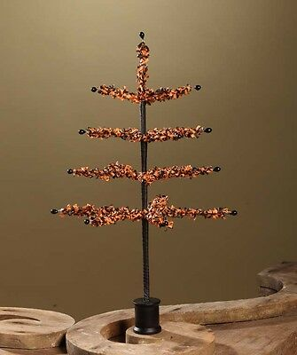 Bethany Lowe Halloween Tissue Paper Tree 16 Inch Black Orange Tabletop Tree
