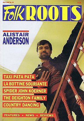 ALISTAIR ANDERSON / TAXI PATA PATA  Folk Roots no. 49 Jul 1987