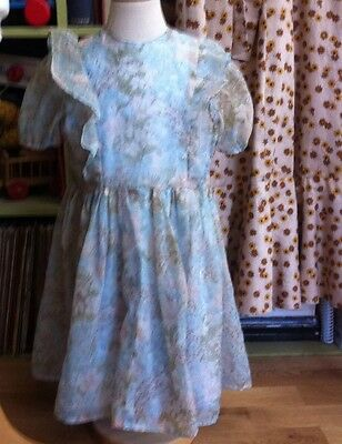 TRUE VINTAGE DARLING 1950's 1960's GIRLS CHIFFON PARTY DRESS AGE 2-4 CHEST 26""