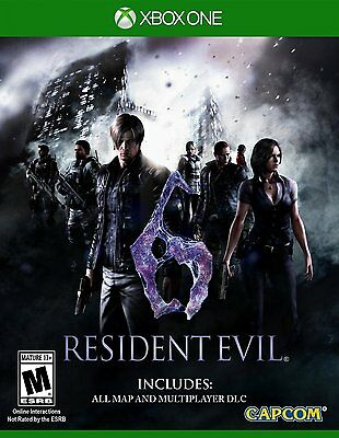 Resident Evil 6 w/ All Map & Multiplayer Bonus [Xbox One XB1, HD Remaster] NEW