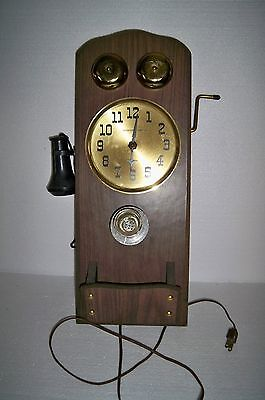 Vintage Sessions wall phone shaped clock for repair