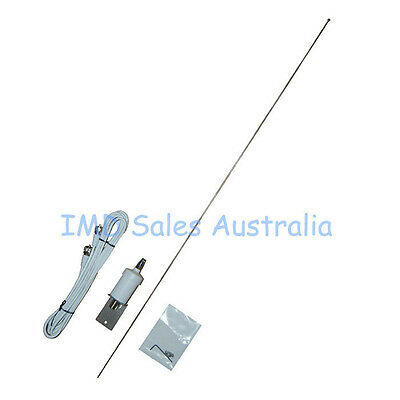 AXIS Marine VHF Antenna S/Steel NEW Cable+ Plugs