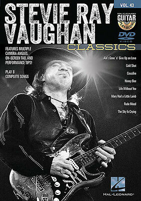 Stevie Ray Vaughan Guitar Play-Along DVD Vol 43 SRV Lessons How To Video NEW