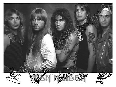 IRON MAIDEN - print signed photo - foto con autografo stampato