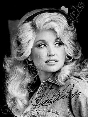 DOLLY PARTON - print signed photo - foto con autografo stampato