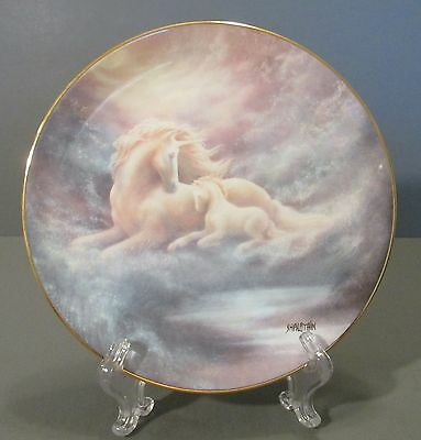 """1992 Hamilton Collection """"A Mother's Love"""" Horse and Foal Collector Plate"""
