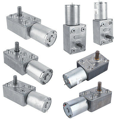 12V DC Reduction Motor Worm Reversible High Torque Turbo Geared Motor 2-100RPM