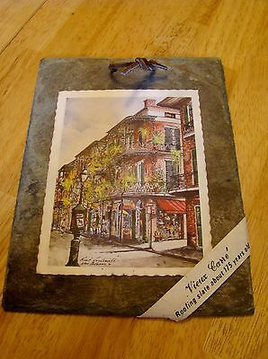 Vieux Carre' roofing slate from the 1800's  New Orleans