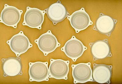 """Plastic Backs 14 for Music Boxes & Clocks or other 1 5/8"""" x 3/8"""" D B-4-17"""