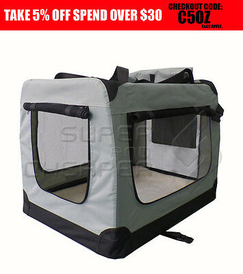 Pet Soft Crate Portable Dog Cat Carrier Travel Cage Kennel Large Foldable XXXL G