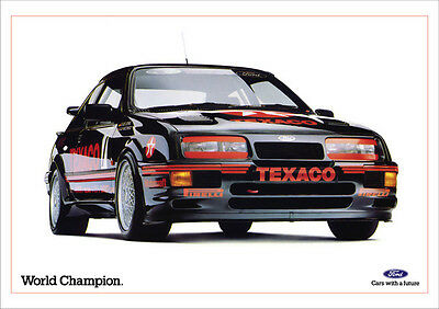 Ford Sierra Rs 500 Cosworth Retro A3 Poster Print From Classic 80's Advert