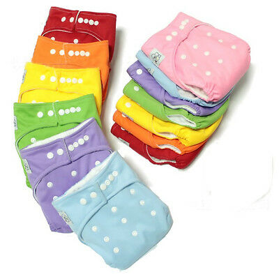 Kids Infant Adjustable Reusable Baby Washable Cloth Diaper Nappies All in One