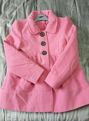 New Look Pink  Wool Look Girls Jacket Age 9-10 Height 140cms