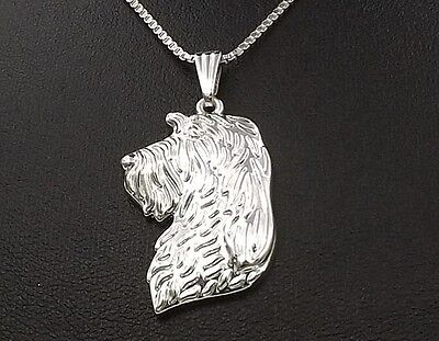 Spinone Italiano 3D Silver pendant necklace dog collectible N90